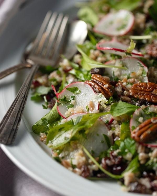 Grain Salad with Radish & Pecans