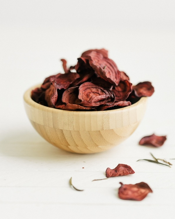 Sea Salt and Rosemary Beet Chips