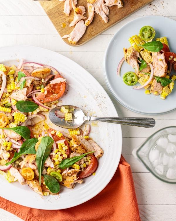 Summer Corn, Tomato & Salmon Salad
